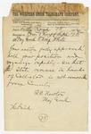 1874 April 25: Major General R.C. Newton, Little Rock, to Brigadier General H. King White, Pine Bluff