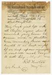 1874 April 29: Major General R.C. Newton, Little Rock, to Brigadier General H. King White, Pine Bluff