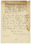 1874 April 29: Elisha Baxter, Little Rock, to Brigadier General H. King White, Pine Bluff