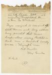 1874 April 30: Major General R.C. Newton, Little Rock, to Brigadier General H. King White, Pine Bluff