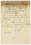 1874 May 9: [Elisha] Baxter, Little Rock, to Brigadier General H. King White, Pine Bluff
