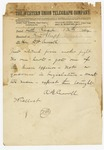 1874 May 12: A.B. Carroll, Little Rock, to Honorable D.W. Carroll, Pine Bluff
