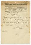 1874 May 12: A.J. Wheat, Little Rock, to S.K. Wheat, Pine Bluff