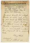1874 May 12: Brigadier General H. King White, Little Rock, to Colonel T.C. Flournoy, Pine Bluff