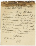 1874 May 14: J.C. Cross, Little Rock, to Colonel T.C. Flournoy, Pine Bluff