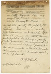 1874 May 14: A.J. Wheat, Little Rock, to Colonels Flournoy or Harris, Pine Bluff