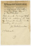 1874 May 15: James M. Holcomb, Little Rock, to Major H. Carlton, Pine Bluff