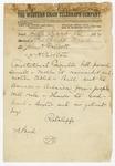 1874 May 16: Ratcliffe, Little Rock, to John H. Talbott or Carlton, Pine Bluff