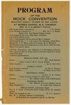 Program, Mock Convention at Moses Chapel M.E. Church