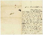 Letter, Lewis Rector to Annie Rector Copeland