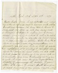 Letter, John Rector to Annie Rector Copeland