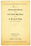 Program, Commencement Exercises of the J.C. Corbin High School