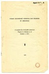 Pamphlet, Public Secondary Schools for Negroes in Arkansas