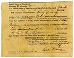 Court subpoena, John Lawson Hemphill v. Mary Dickson