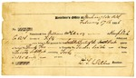 Receipt for land purchase, William McElroy