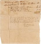 Probate, doctor's receipt to Ellen Hardin estate