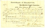 Certificate of Exemption, Samuel W. Williams
