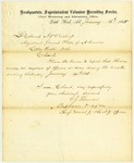 Muster Report, Captain E.J. Thomas to Colonel A.W. Bishop