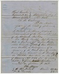 Letter, Colonel William M. Bruce to Governor Henry M. Rector