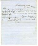 Letter, Colonel Daniel Griffin to John T. Stirman