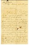 Letter, J.W. Talkington to David C. Williams