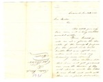 Letter, Sabin Hough to Governor Henry M. Rector