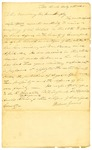 Letter, William Jones to Governor Isaac Murphy