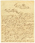 Letter, Governor Harris Flanagin to Major General John Bankhead Magruder
