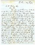 Letter, B.M. Colman to David C. Williams