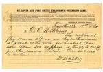 Telegram, David Walker to David C. Williams