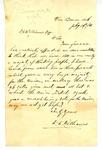 Letter, D.D. Williams to David C. Williams