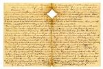 Letter, James Parrott to Maria Parrott