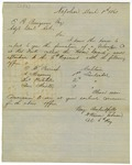 Letter, Colonel W. Warren Johnson to Adjutant General Edmund R. Burgevin