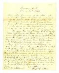 Letter, Benjamin C. Totten to Governor Harris Flanagin