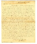 Letter, James Greig to David C. Williams