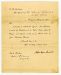 President Abraham Lincoln to Governor Henry Rector