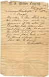 Telegram, Abraham Lincoln to Governor Isaac Murphy