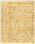Letter, John H. Jameson to Thirsaline Jameson