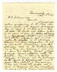 Letter, W.M Fishback to David C. Williams