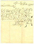 Letter, Barbecue Committee to Col. Samuel W. Williams