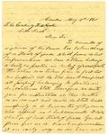 Letter, James T. Elliot to Governor Henry M. Rector