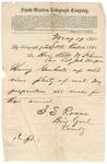 Telegram, J.S. Roane to Robert W. Johnson