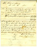 Letter, Major and Assistant Commissary General D.W. Heard to L. Abel