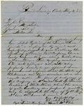Letter, Capt. Samuel McClain to Gov. Henry M. Rector