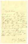 Letter, Jane Holt to Loyal Case
