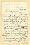 Letter, E.W. Gantt to John Caldwell