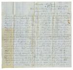 Letter, James Abraham to Governor Harris Flanagin