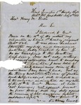 DeRosey Carroll, Headquarters, First Cavalry Regiment, Arkansas Volunteers, Camp Walker, to Governor Henry Rector