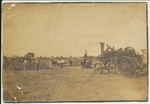 Steam tractor and baler