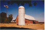 Barn, windmill, and silo